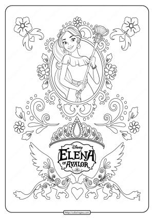 Disney Princess Elena of Avalor Coloring Sheet