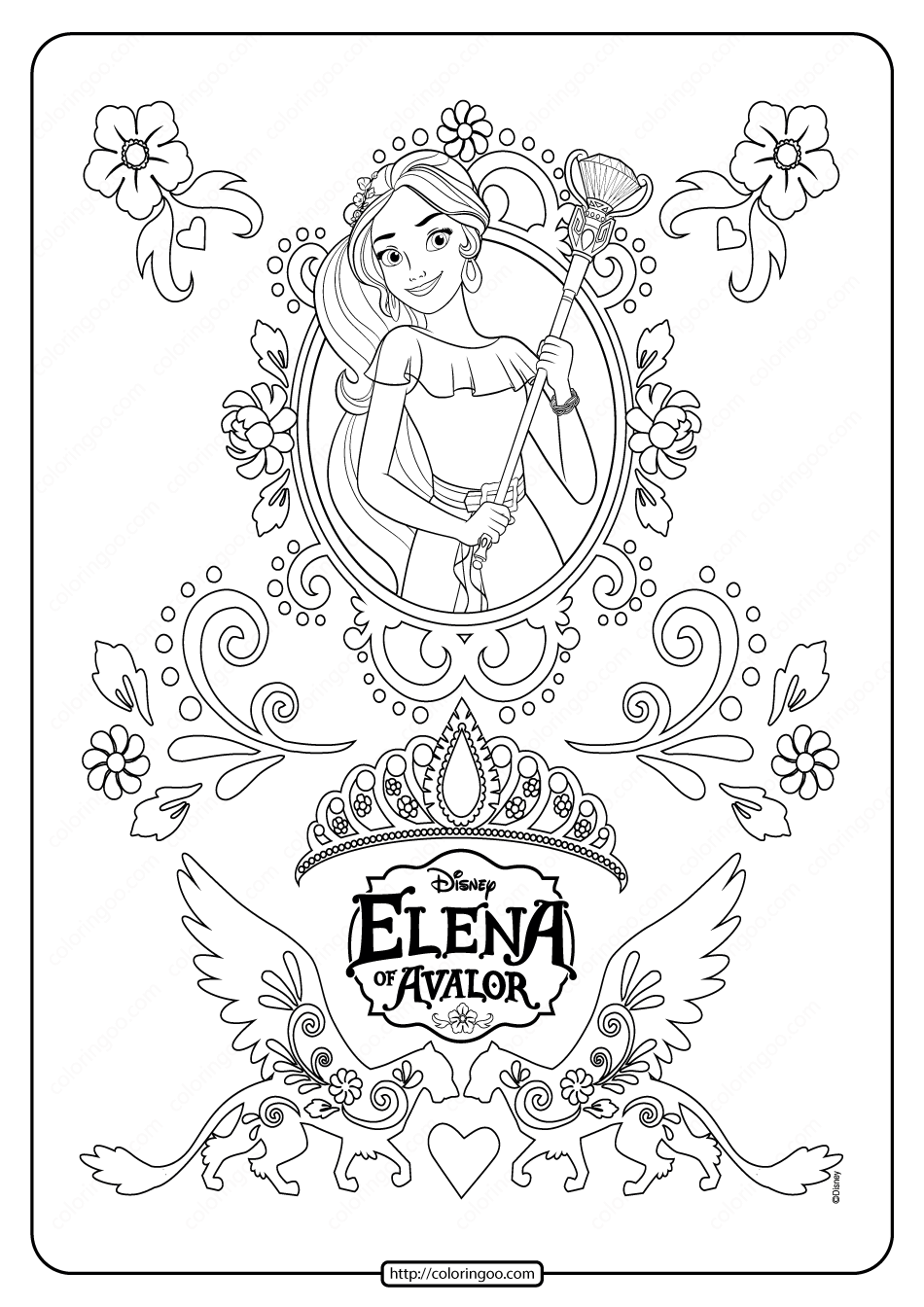 Disney Princess Elena of Avalor Coloring Sheet