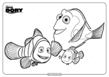 Disney Finding Dory Marlin Nemo Coloring Pages