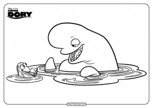 Disney Finding Dory and Bailey Coloring Pages