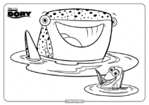 Disney Finding Dory and Destiny Coloring Pages