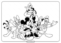 Disney Mickey's Typing Adventure Coloring Page
