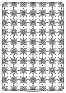 Free Printable Geometric Pattern PDF Book 017