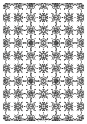 Free Printable Geometric Pattern PDF Book 017