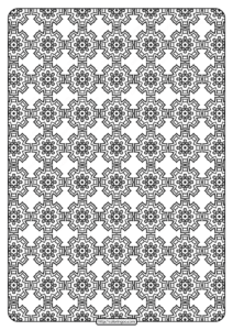 Free Printable Geometric Pattern PDF Book 018