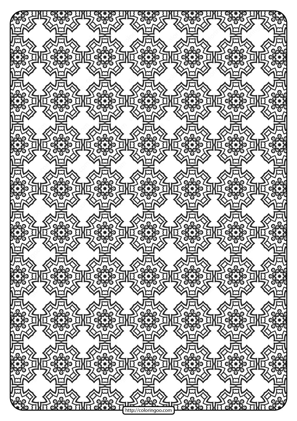 Free Printable Geometric Pattern PDF Book 018