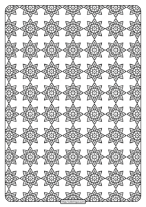 Free Printable Geometric Pattern PDF Book 019