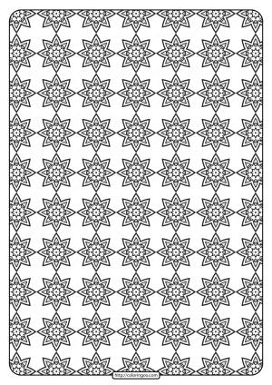 Free Printable Geometric Pattern PDF Book 019
