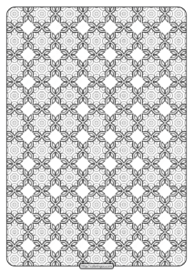 Free Printable Geometric Pattern PDF Book 020