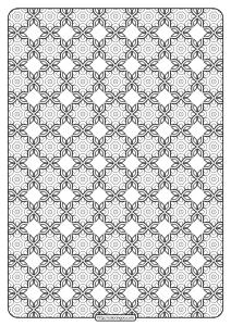 Free Printable Geometric Pattern PDF Book 020