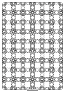 Free Printable Geometric Pattern PDF Book 021