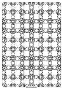 Free Printable Geometric Pattern PDF Book 021
