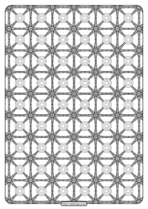 Free Printable Geometric Pattern PDF Book 022