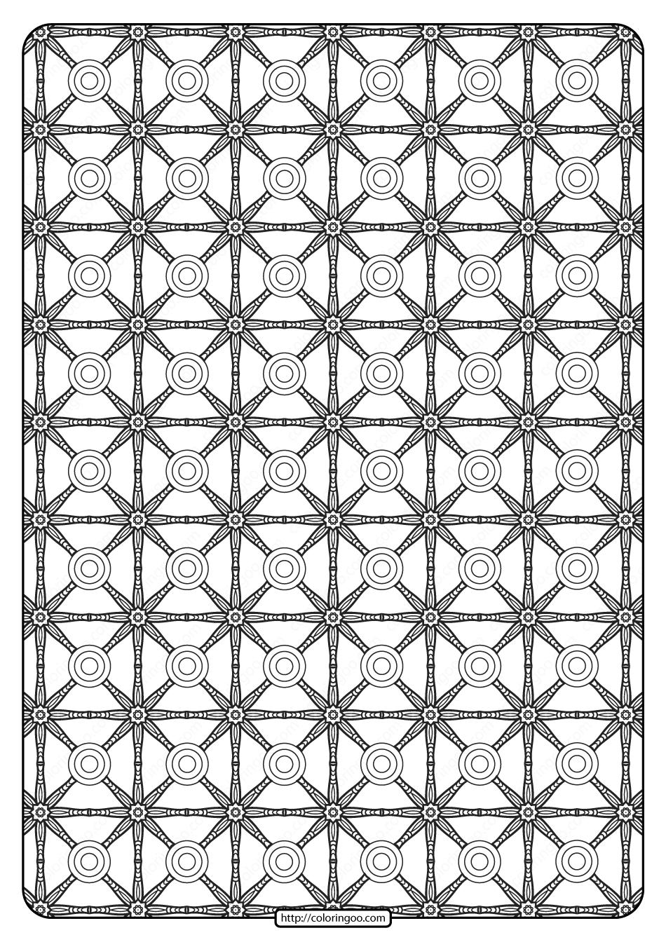 Free Printable Geometric Pattern PDF Book 022