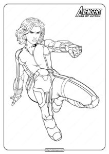 Marvel Avengers Black Widow Pdf Coloring Pages