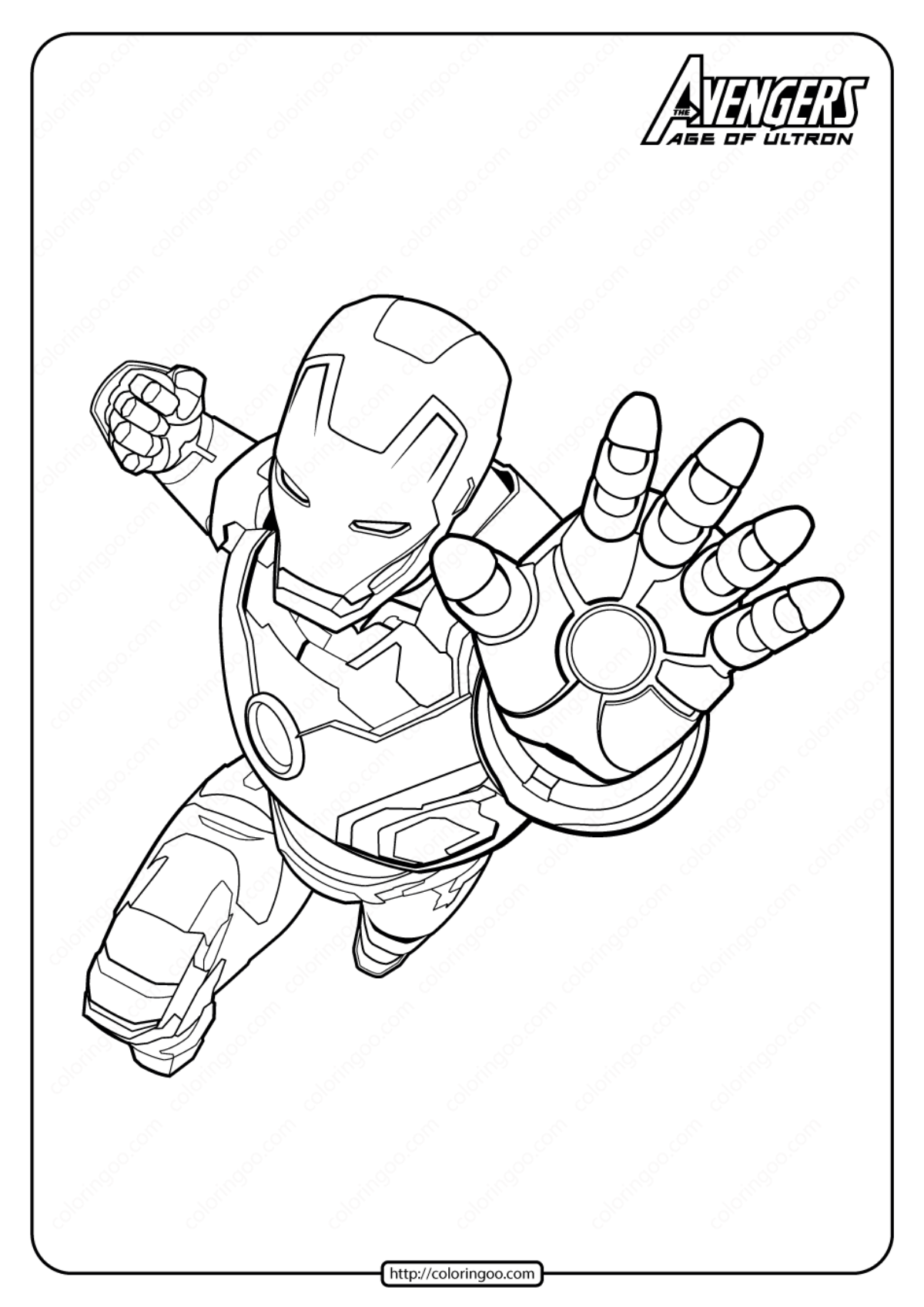 Marvel The Avengers Iron Man Pdf Coloring Pages