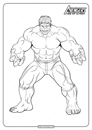 Marvel The Avengers Hulk Pdf Coloring Pages
