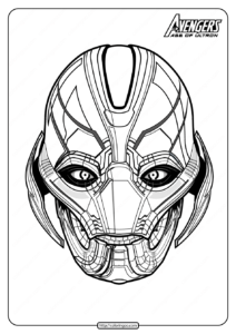 Marvel The Avengers Ultron Pdf Coloring Pages