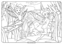 Fairies Rosetta and Tinker Bell Coloring Page