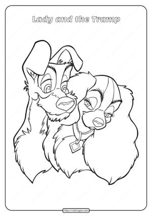 Printable Lady and the Tramp Coloring Pages 05