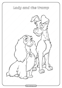 Printable Lady and the Tramp Coloring Pages 07