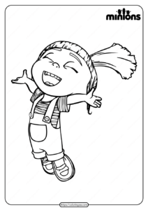 Printable Minions Agnes Pdf Coloring Page