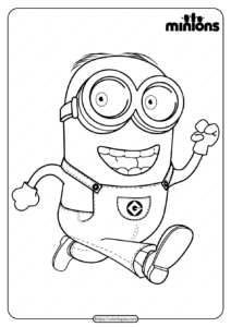 Printable Minions Dave Pdf Coloring Page