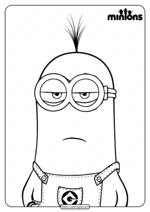 Printable Minions Kevin Pdf Coloring Page
