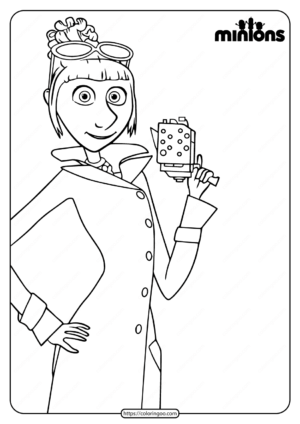 Printable Minions Lucy Wilde Coloring Page