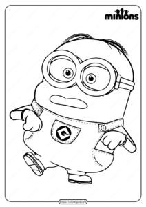 Printable Minions Pdf Coloring Book
