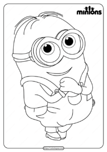 Printable Minions Pdf Coloring Page