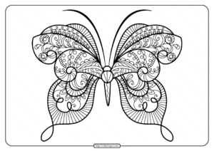 Printable Butterfly Mandala Coloring Pages 50