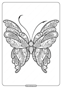 Printable Butterfly Mandala Coloring Pages 51