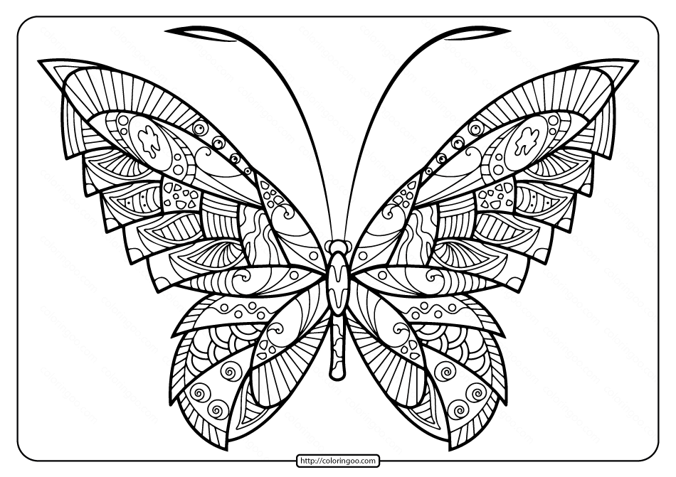 Printable Butterfly Mandala Coloring Pages 52