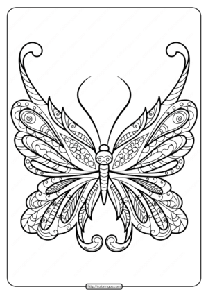 Printable Butterfly Mandala Coloring Pages 53