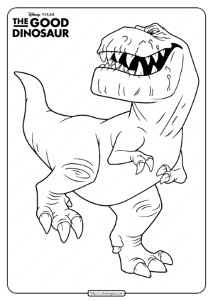Disney The Good Dinosaur Butch Coloring Page
