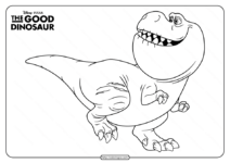 Disney The Good Dinosaur Nash Coloring Page