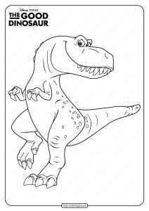 Disney The Good Dinosaur Ramsey Coloring Page