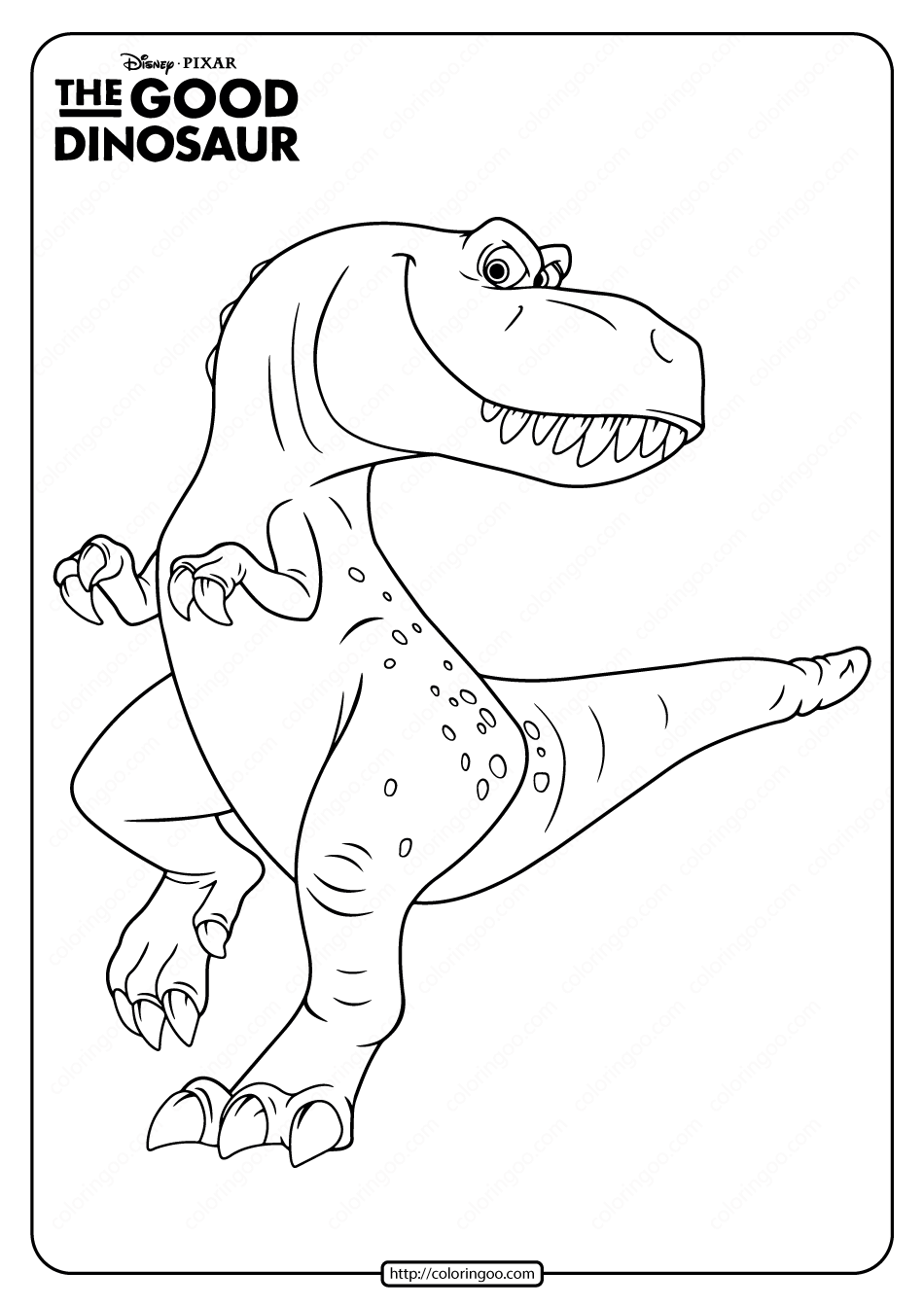 Disney The Good Dinosaur Ramsey Coloring Page