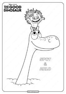 Disney The Good Dinosaur Spot & Arlo Coloring Book