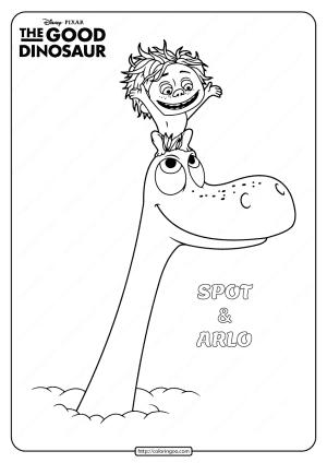 Disney The Good Dinosaur Spot & Arlo Coloring Book