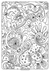 Free Printable Abstract Pdf Coloring Page