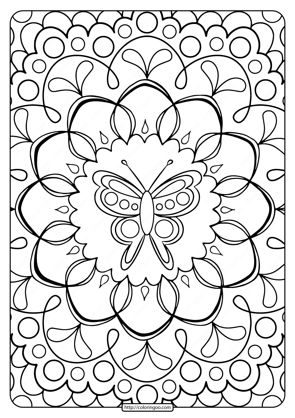 free online colouring page  »  8 Photo » Creative..!