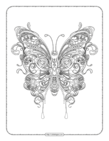 Free Printable Butterfly Adult Coloring Pages