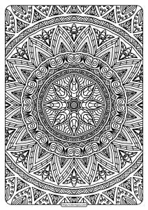 Free Printable Mandala Adult Coloring Book