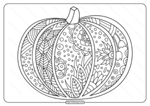 Free Printable Pumpkin Coloring Page