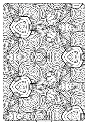 Printable Abstract Pattern Adult Coloring Pages-02