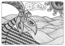 Printable Adult Pdf Coloring Page Book 01