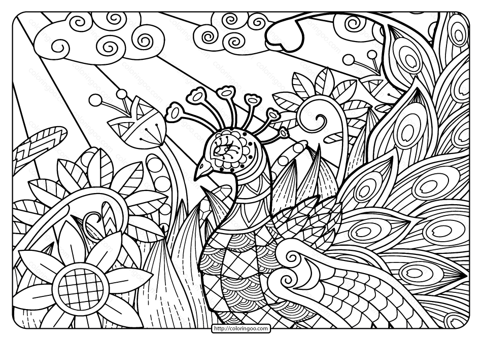 Printable Adult Pdf Coloring Page Book 02