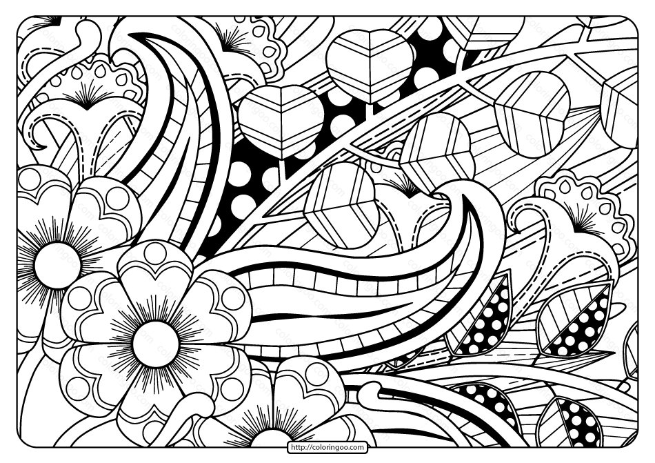 Printable Adult Pdf Coloring Page Book 03